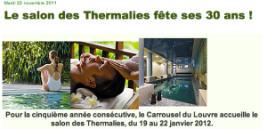 Annonce des Thermalies 2012